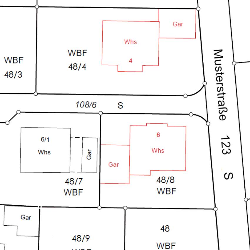 Karte Gebäudeaufnahme